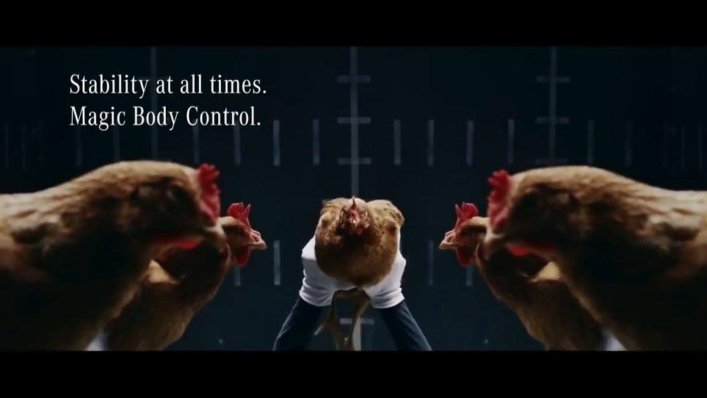 Mercedes Benz MAGIC BODY CONTROL TVCommercial Chicken